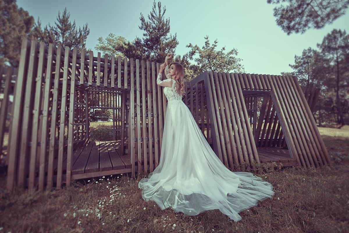 Photographie de robe de mariée