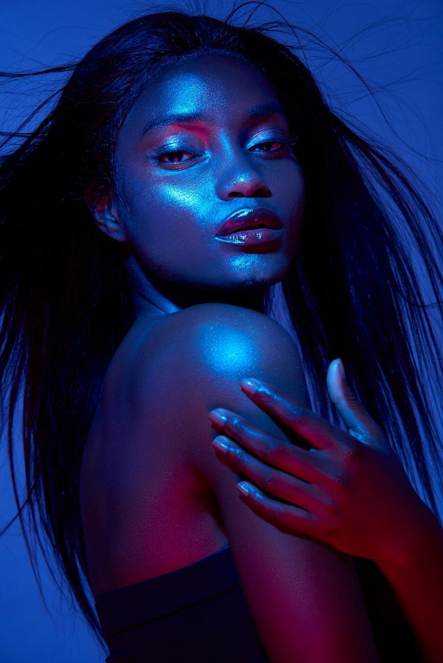 Photographie créative beauté noire