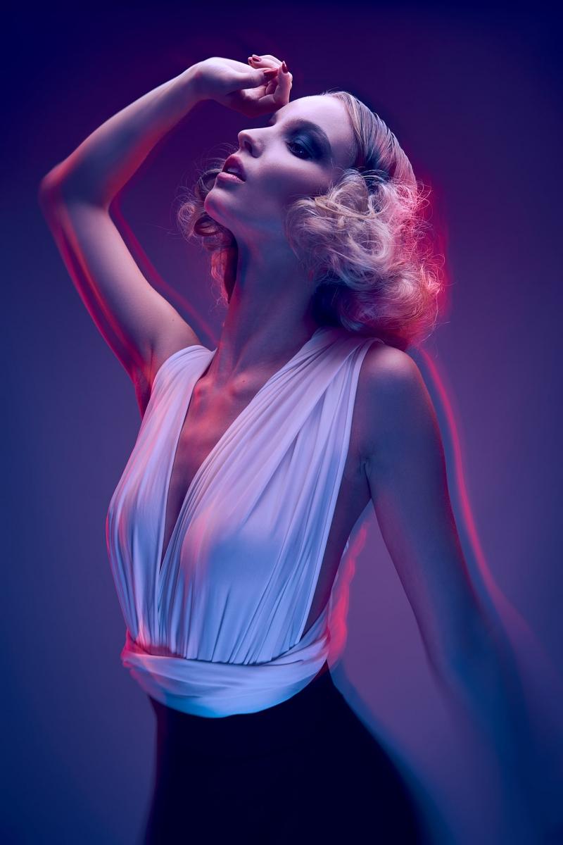 Photographie de mode, lumière créative