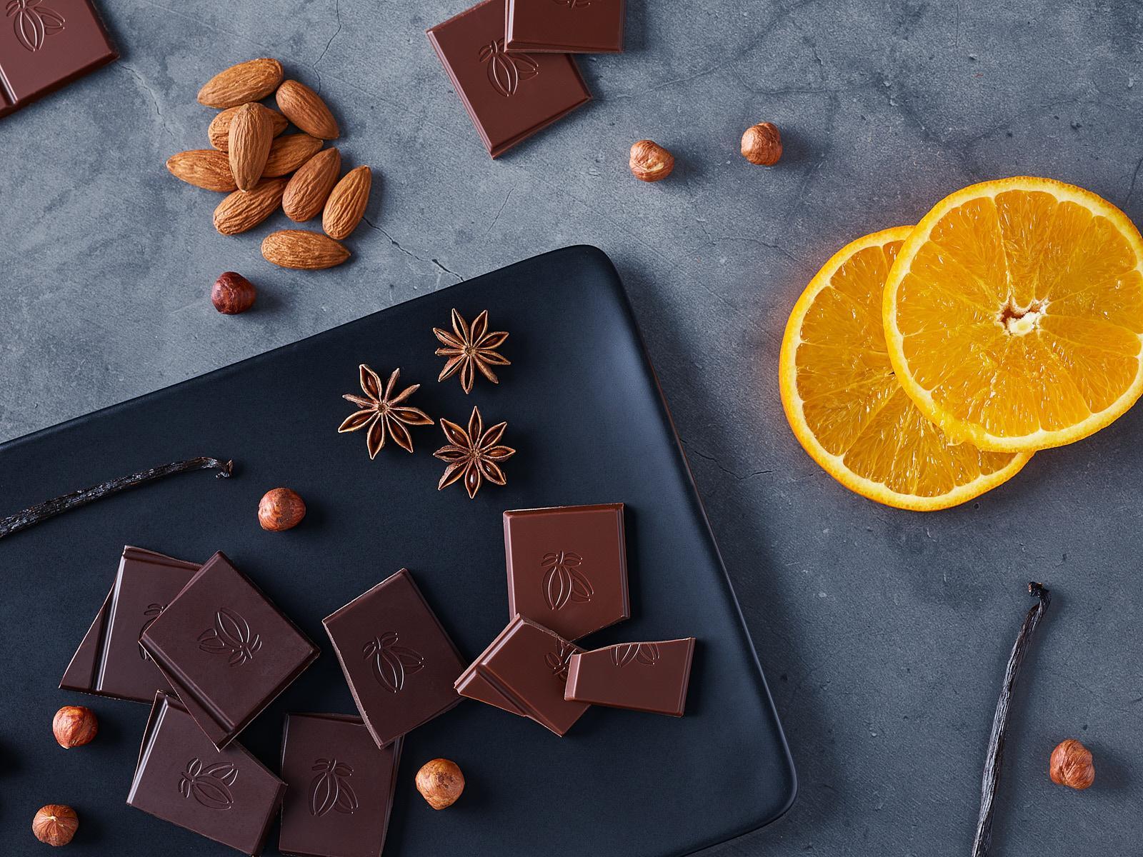 Mise en scène chocolat